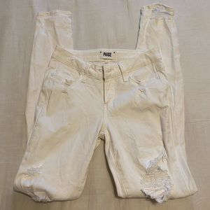 Paige white distressed jeans
